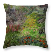Cosmic Garden Throw Pillow