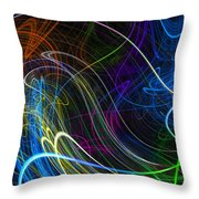 Cosmic Haywires Throw Pillow