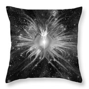 Cosmic Heart Of The Universe Bw Throw Pillow