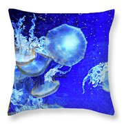 Cosmic Jellies Throw Pillow