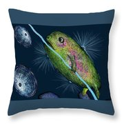 Cosmic Lifeforms Throw Pillow