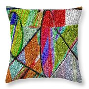 Cosmic Lifeways Mosaic Throw Pillow