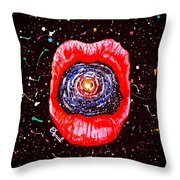 Cosmic Lips 2 Throw Pillow