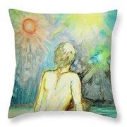 Cosmic Man Throw Pillow