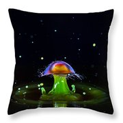 Cosmic Mushroom Throw Pillow