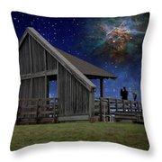 Cosmic Observation Deck Throw Pillow