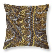 Cosmic Patterns - Hoarfrost Throw Pillow