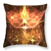 Cosmic Rosebuds Throw Pillow
