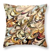 Cosmic Storm Rolling In Throw Pillow