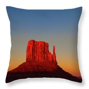 Cosmic Sunset At Monument Valley Throw Pillow