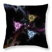 Cosmic Symbols Throw Pillow