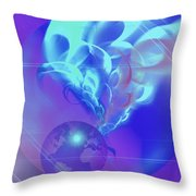 Cosmic Wave Throw Pillow