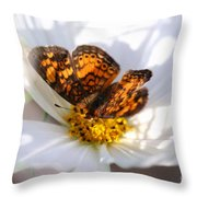 Cosmo Visitor 2 Throw Pillow