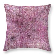 Cosmos Against Pink Mottled Glass 7-22-2015 #1 Throw Pillow