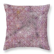 Cosmos Against Pink Mottled Glass 7-22-2015 #2 Throw Pillow
