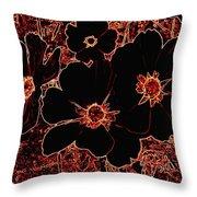 Cosmos Caliente Throw Pillow