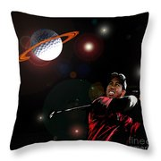 Cosmos Golf Throw Pillow