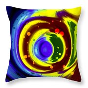 Cosmos Drift Throw Pillow
