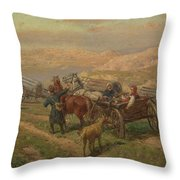 Cossak Convoy Throw Pillow