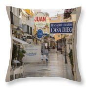 Costa Del Sol   Spain Throw Pillow