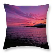 Costa Del Sol Sunset In Marbella Throw Pillow