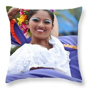 Costa Maya Dancer Throw Pillow