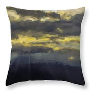 Costa Rica From The Skies Throw Pillow