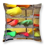 Costa Rica Kayaks Throw Pillow