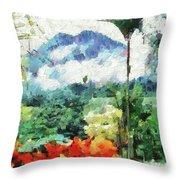 Costa Rica Paradise Throw Pillow
