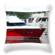 Costa Rica Red 3 Throw Pillow