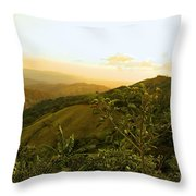 Costa Rica Rolling Hills 2 Throw Pillow