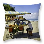 Costa Rica Vendor Throw Pillow