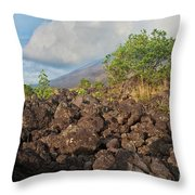 Costa Rica Volcanic Rock II Throw Pillow