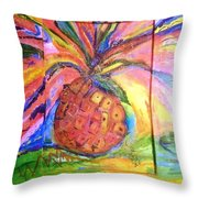 Costa Rican Pineapple Throw Pillow