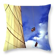 Costa Rican Sailing Throw Pillow