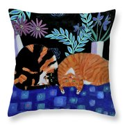 Cosy Companions Throw Pillow
