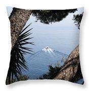 Cote D Azur Throw Pillow