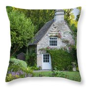Cotswold Cottage Throw Pillow