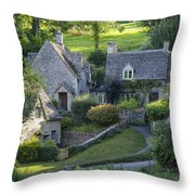 Cotswold Cottages Throw Pillow