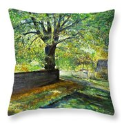 Cotswold Lane  Throw Pillow
