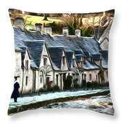 Cotswold Scene Throw Pillow