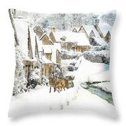 Cotswold Village Throw Pillow
