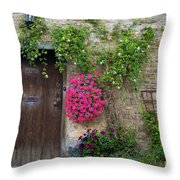 Cotswolds Milk Delivery Throw Pillow