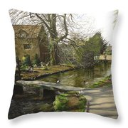 Cotswolds Scene. Throw Pillow