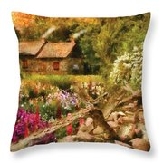 Cottage - There's No Place Like Home Throw Pillow