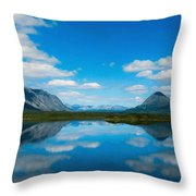 Cottage At Lake  Throw Pillow
