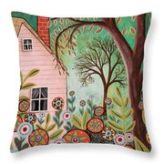 Cottage Garden 1 Throw Pillow