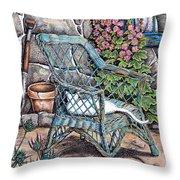 Cottage Garden Throw Pillow