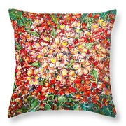 Cottage Garden Flowers Throw Pillow
