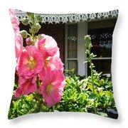 Cottage Garden.  Throw Pillow